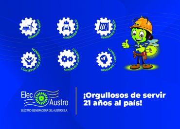 ELECAUSTRO 21 AÑOS DE SERVICIO